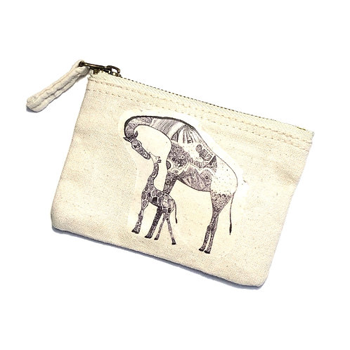 Mama and Baby Giraffe Coin Purse