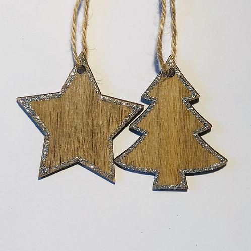 Wooden Stars & Trees