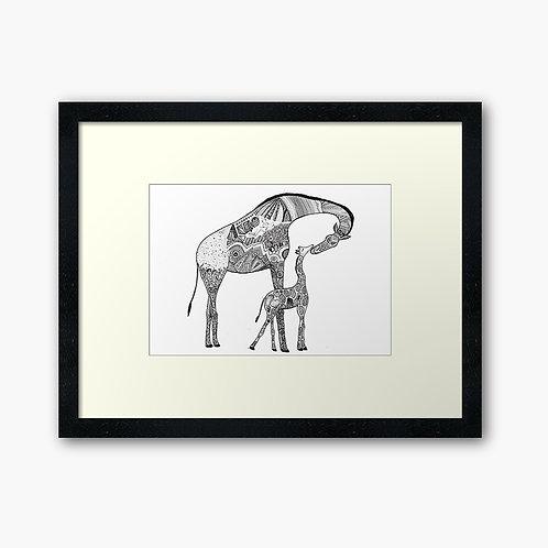 Mama & Baby Giraffe Print