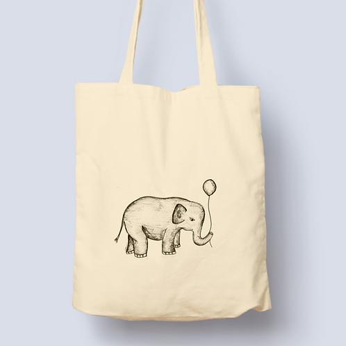 Elephant & Balloon tote