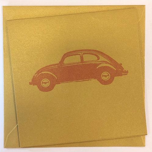 VW Beetle Classic Car Greetings Card
