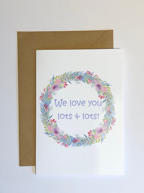 Circle Wreath Greetings Card