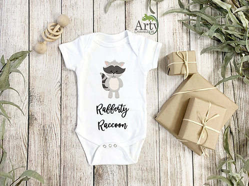 Raffy Raccoon Onesie Baby-grow