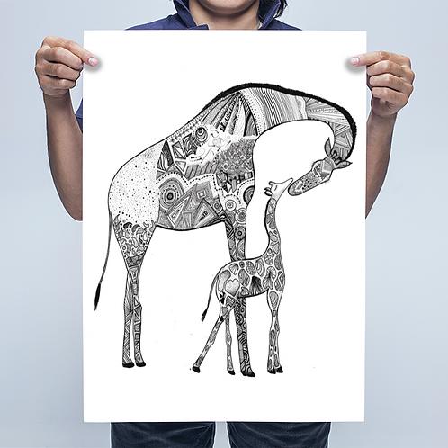 A2 Giraffe Print