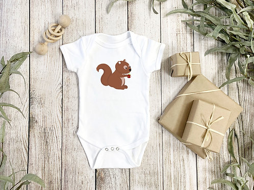 Squirrel Onesie Baby-grow