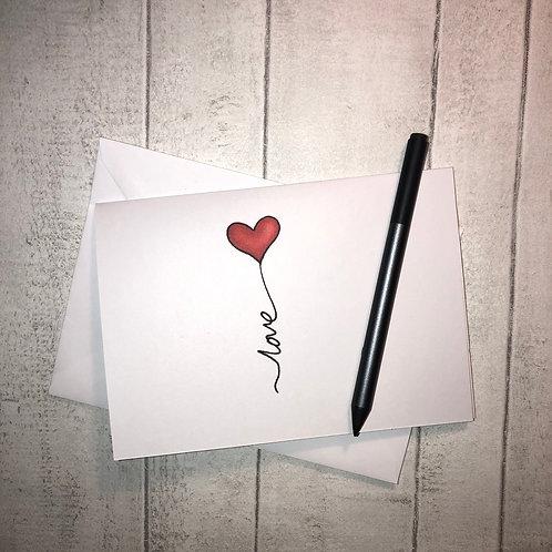 Love Balloon // Anniversary or Birthday Card