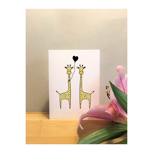 Giraffe Lovers Card