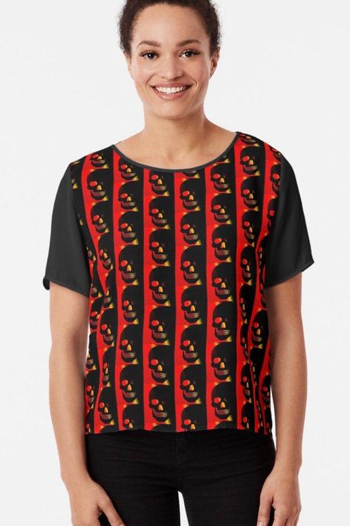 Fiery Skull chiffon t-shirt