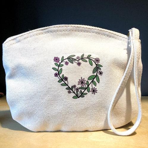 Organic Cotton Flower Heart Bag