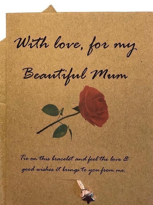 Rose Beautiful Mum Card