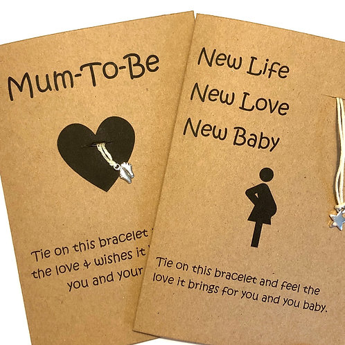 Mum -To-Be Card with bracelet