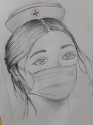 Dibujo en lápiz por Osvaldo Sacco