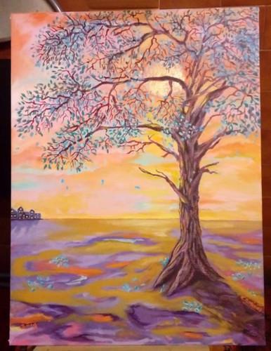 Pintura realizada por Camila Caminos