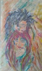 Pintura realizada por Anisi Taha