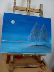 Pintura realizada por Mili Rafaele