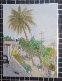 Pintura realizada por Jorge Pavon