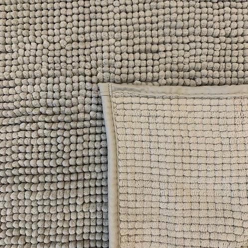 Tappeto bagno grigio perla