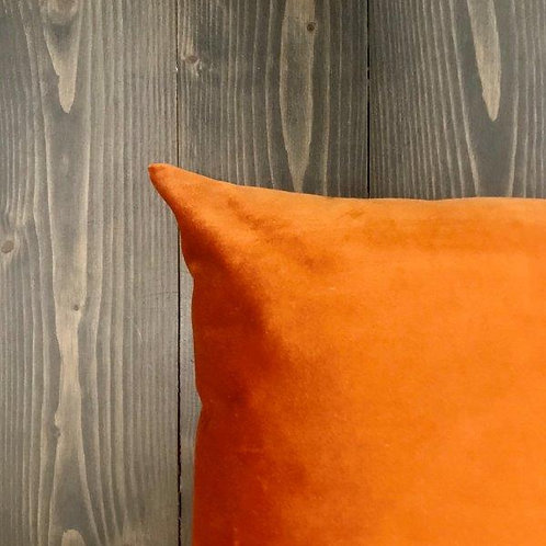 Federa velluto arancio