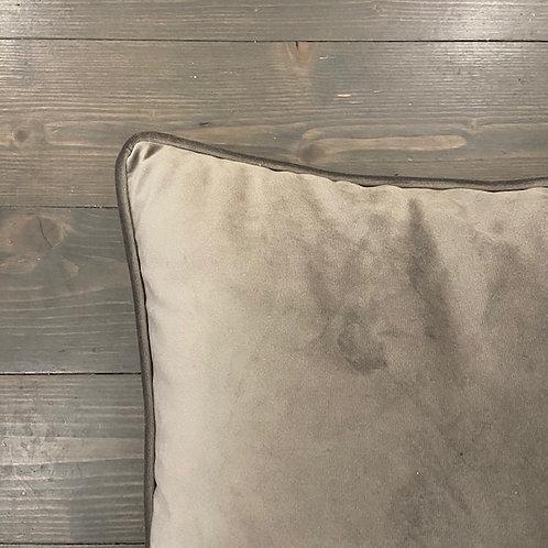 Cuscino velluto grigio