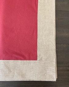 Tovaglia di Lino cerato ciliegia bordata