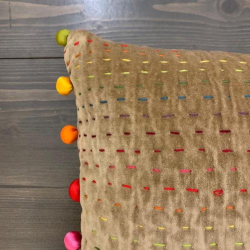 Cuscino pon pon color