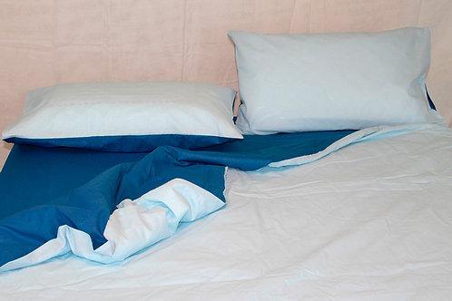 Sacco piumone blu/azzurro