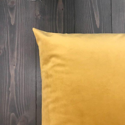 Federa velluto gialla