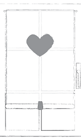 tenda in lino con cuore