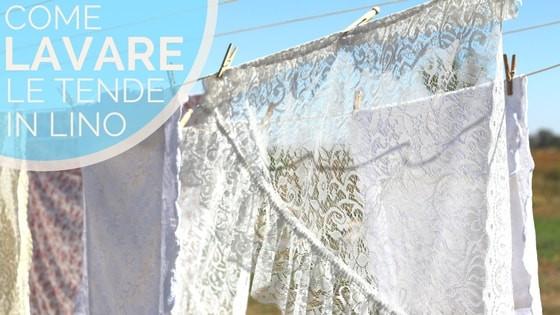 Lavare le tende lino