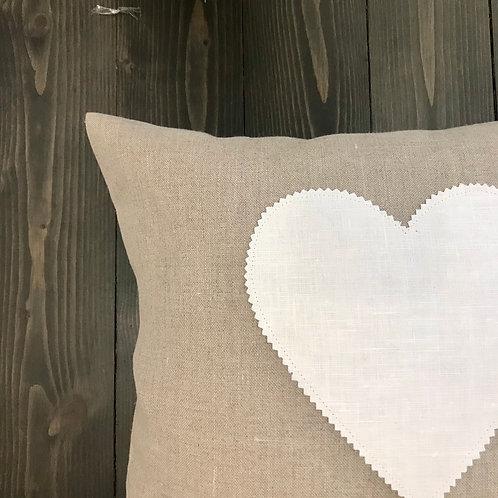 Federa sabbia cuore bianco