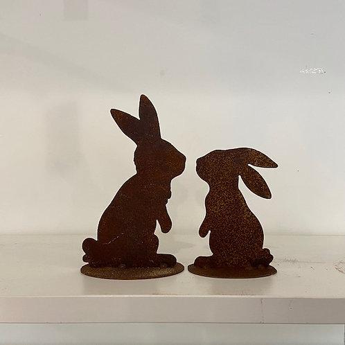 Coppia conigli innamorati