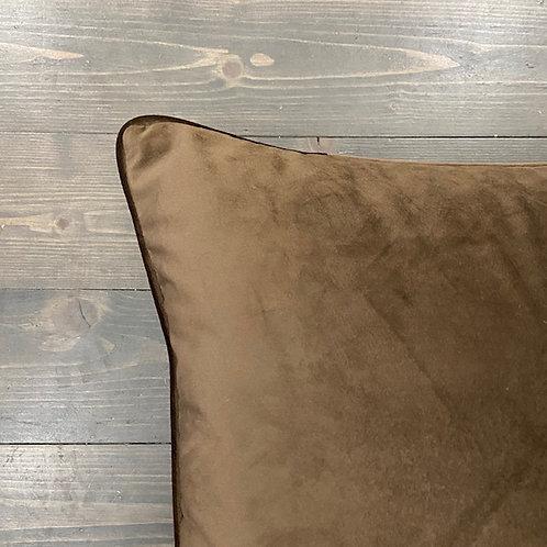 Cuscino velluto marrone