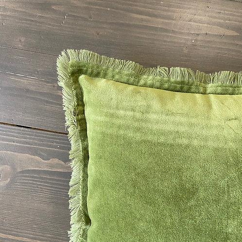 Cuscino frange verde