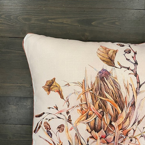 Cuscino fiore rosa antico