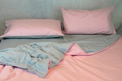 Sacco piumone grigio/rosa