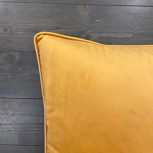 Cuscino velluto giallo ocra