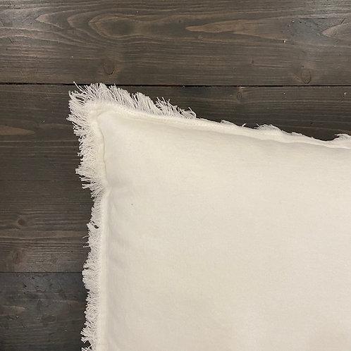 Cuscino frange bianco