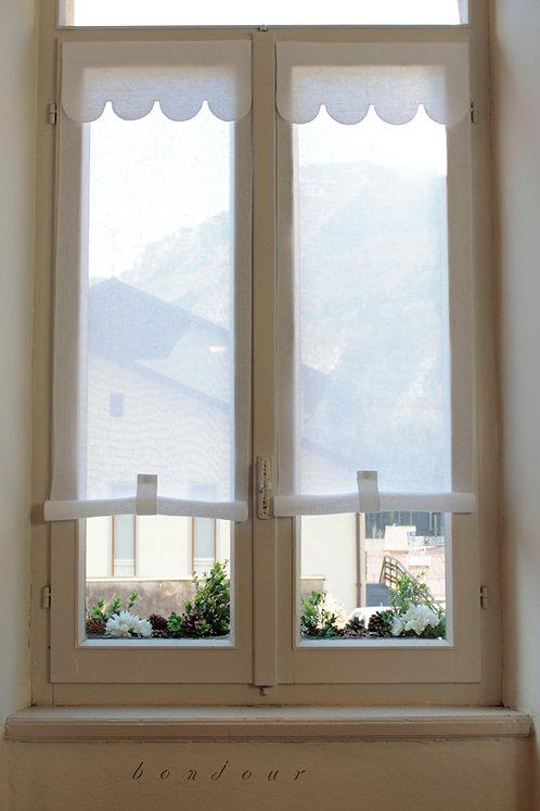 Tenda a vetro con mantovana modello 'Margherita': white