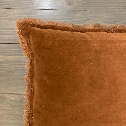 Cuscino frange marrone