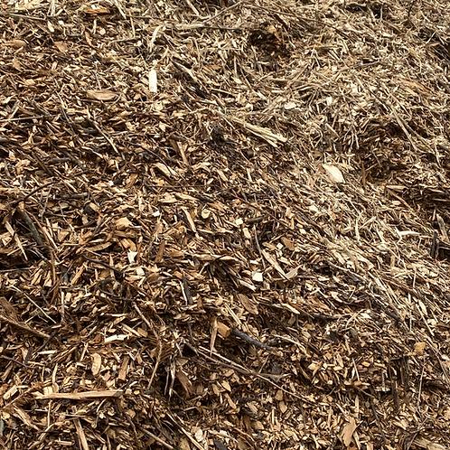 Single Shredded Mulch: Natural Wood - $18/cu yd