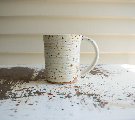 Carved Speckled Mug