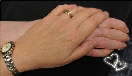 Nos mains G. Bourque et Rosée