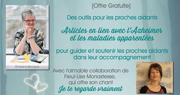 Ghislaine Bourque - Offre gratuite pour les proches aidants
