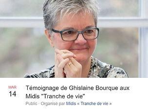 Ghislaine Bourque proche aidante