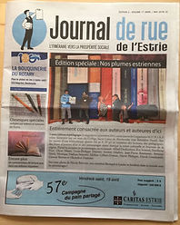 Journal de rue de l'Estrie Avril/Mai 2019