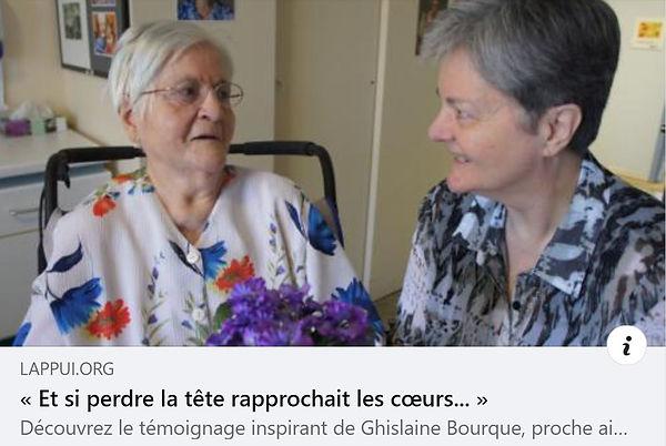 Ghislaine Bourque et sa mère Rosée Vallée