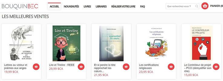 Meilleures ventes BouquinBec