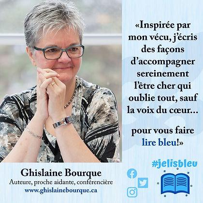 Vignette - Ghislaine Bourque - Je lis bleu