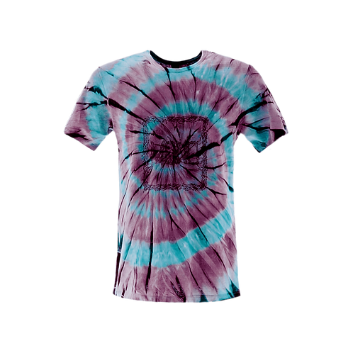 Tee Mono  Spiral Light Blue/Burgundy
