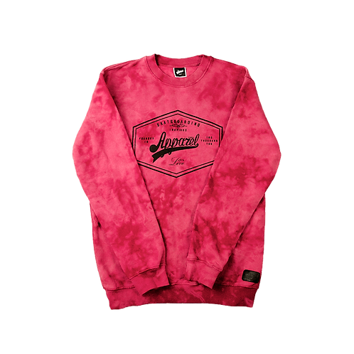 Sweatshirt Lozenge Stoned Crimson